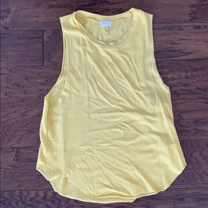 Community (by Aritzia) yellow sleeveless top